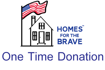 donate to homes for the brave one time donation
