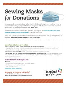 Sewing Masks for Donations